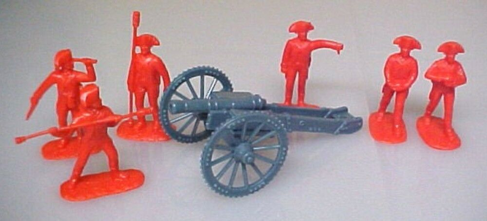 British Redcoat Artillery Aip Plastic Soldiers Army Men 5479