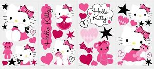 HELLO KITTY COUTURE WALL DECALS 38 New Stickers Stars Hearts Cats Decor