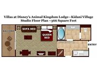 For sale: Disney World 2017 Holiday in a Deluxe Studio Room at Animal Kingdom (Room only for 2weeks)