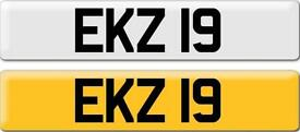 *EKZ 19* Dateless Personalised Cherished Number Plate Audi BMW M3 Ford VW Caddy Mercedes Vauxhall
