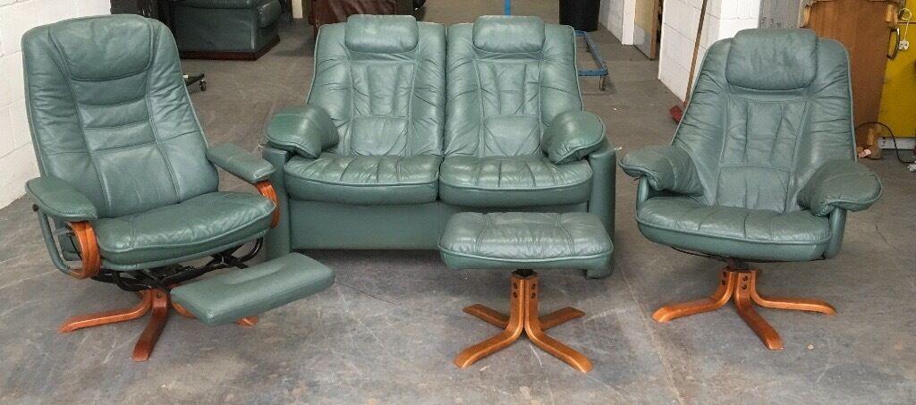 Ekorness Style recliner sofa set WE DELIVER UK WIDE