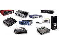 **WANTED** Audio Interfaces / Sound Cards / Home Recording & Audio Production Gear **INSTANT CASH!**
