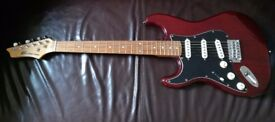 Wine red strat electric guitar in wine red - Axl player deluxe