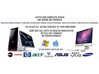 PC and laptop repair at your home possible.Virus removal,Files recovery,Laptop screen replacement;