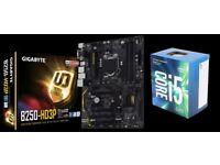 Gigabyte B250-HD3P Motherboard + Intel Core i5 7400 CPU Bundle