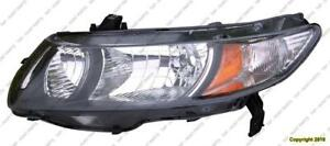 Head Light Driver Side Coupe Honda Civic 2009-2011
