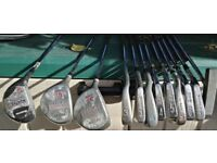 LEFT HANDED GOLF CLUB SET (8 off Irons & 3 off Drivers) LEFT HANDED