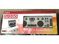 Ion DJ2GO Compact USB DJ controller for PC and Mac