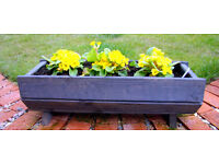 Wooden planter.Flowers Herbs etc