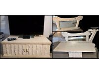 Individual sale or Set of four (4) Classical style stone effect furniture