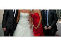 Red bridesmaid/formal dress size 6