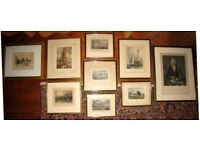 A Varied Collection of Pictures ~ Antique Vintage Mounted & Framed Etchings & Prints ~ From £15 Each