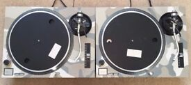2 X Technics SL-1210 MK2 Turntables With Custom Desert Camo Covers