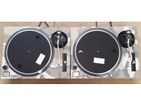 2 X Technics SL-1210 MK2 Turntables With Custom Desert Camo Covers