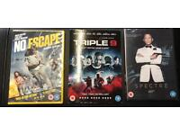 No escape, Triple 9 and Spectre DVDs. Brand new and sealed. £3 for all