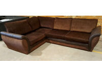 Dfs Corner Sofa - Brown. Can deliver