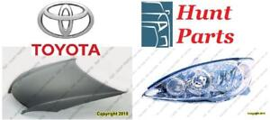 Toyota Camry 2002 2003 2004 2005 2006 Headllamp Head Lamp Light Hood Hinge Latch Ignition Coil Lower Control Arm Rebar