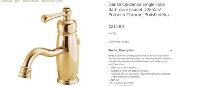 Brass Single Hole Bathroom Faucet Danze Opulence D22557