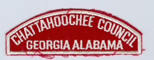 OLD Scout Red & White Council Shoulder Patch (RWS) - Chattahoochee Council GA AL