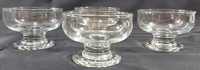 IKEA PONDUS clear glass pedestal dessert bowls (set of 4) dish cup