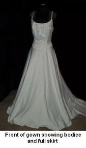 2-piece Alfred Angelo Wedding Gown, white