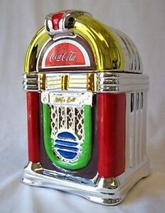 Gibson Coca Cola 2002 Retro Rockin' Roll Jukebox Cookie Jar