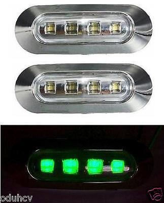 2x LED lato VERDE Luci Di Ingombro LKW Bus Camion