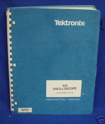 Tektronix 434 Oscilloscope Instr. Manual Wschemtics