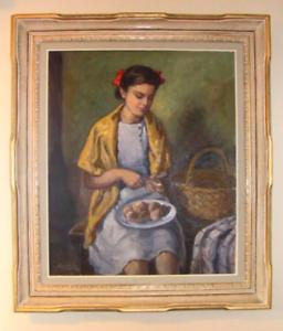 antiquetableau peinture de alberto rafoly italien 1881-1973