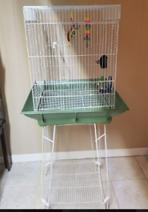 Bird  cage with stand $60