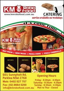 Pizza cone and umbrella for first time in Australia Kings Langley Blacktown Area Preview