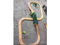 Brio / compatible wooden train set with bridge