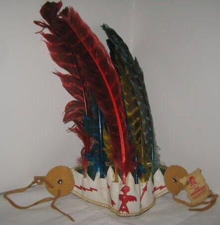 Old American Indian Cherokee Qualla Reservation Souvenir Childs Headdress