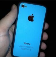 Black and blue iphone 4s