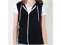 New American apparel California fleece sleeveless zip hoody will fit approx uk size 10