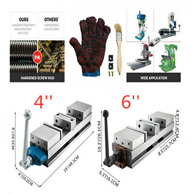 46 Cnc Vise Double Station Precision 2 Lock For Cnc Milling Drilling Machine