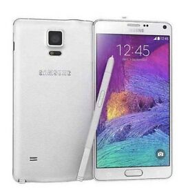 Samsung Galaxy Note 4 White Un-Locked To All Networks - 32GB