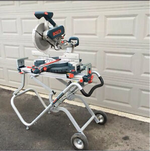 "Bosch 12"" Sliding Dual Bevel Compound Miter Saw w/ gravity stand"