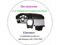 Car conversion CD Literature Book - Manual guide on RHD to LHD, LHD to RHD Revised edition