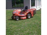 All garden work, ride on mower & compact tractor hire