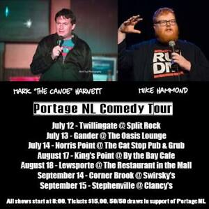 Tickets: Portage NL Comedy Tour featuring Mark Harnett and Mike