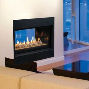 """NEW Majestic 42"""" see-thru linear gas fireplace"""