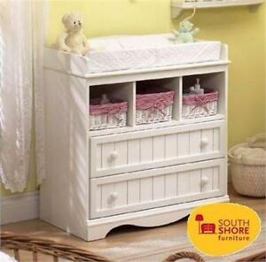 NEW SOUTH SHORE CHANGING TABLE PURE WHITE baby toddler infant bathing storage clothing 90699758