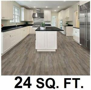 NEW TRAFFICMASTER VINYL PLANK FLOORING 24 SQ FT   7.5 Inch x 47.6 Inch Marino Oak - 10PC PER BOX - 4MM FLOORS 96922580