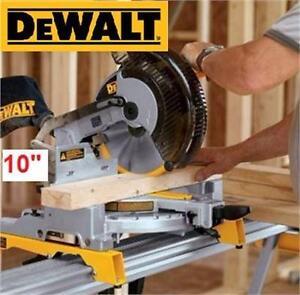 "NEW DEWALT 10"" COMPOUND MITER SAW POWER TOOLS EQUIPMENT SAWS HOME IMPROVEMENT  98478194"