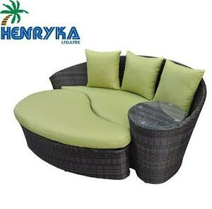 USED HENRYKA LOUNGER AND OTTOMAN LOUNGER AND OTTOMAN SET - GREEN - HOME PATIO FURNITURE CHAIR LOVESEAT   80591312