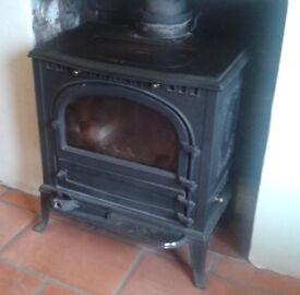 WOOD BURNER: large black cast iron