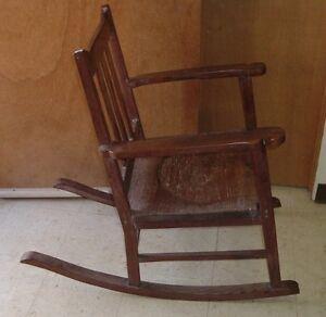 antique ohia wood rocking chair hawaiian furniture