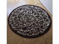 Black / White Circular rug from Next