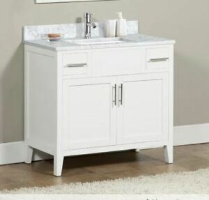 "Brand  New  Contemporary  36""  White  Bathroom  Vanity  sink  ca"